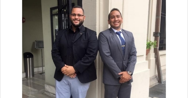 Victor Salas-Pellot, left, and William Cruz, co-founders of the Inter American University of Puerto Rico School of Law veterans group, experienced significant personal and academic challenges after Hurricane Maria devastated Puerto Rico in September 2017. (William Cruz)