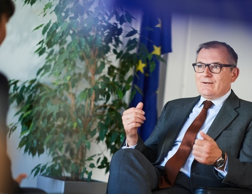 European Defence Agency chief Jiří Šedivý wants EU member states to coordinate any defense budget cuts resulting from the coronavirus crisis. (David Plas/European Defence Agency)