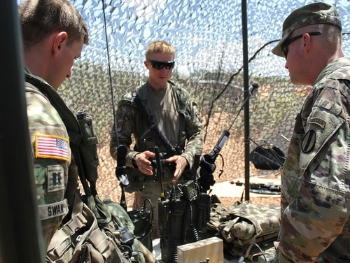 The Army held its first Network Integration Evaluation with a non-dedicated test unit in 2017 at Fort Bliss, Texas, after years of operating with a dedicated one. Now the Army plans to fully eliminate the NIE in favor of the Joint Warfighting Assessments it began in 2016. (Jen Judson/Defense News)