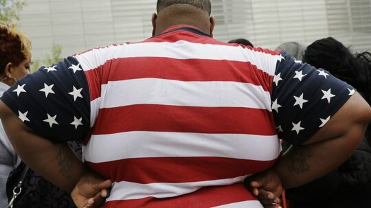 Obesity among wounded veterans is a growing problem, a new study shows. (AP Photo/Mark Lennihan)