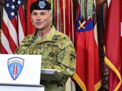 Lt. Gen. Christopher Cavoli leads U.S. Army Europe. (Staff Sgt. Tamika Dillard/U.S. Army)