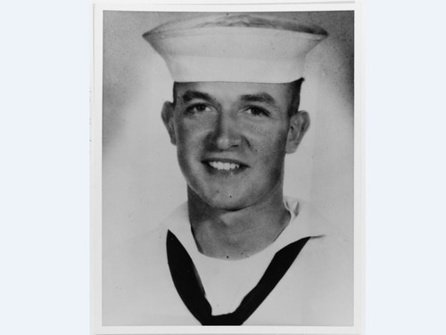 Construction Mechanic 3rd Class Marvin G. Shields was awarded the Medal of Honor posthumously for service in Vietnam. The destroyer escort Marvin G. Shields (DE-1066) was named in his honor. (National Archives)
