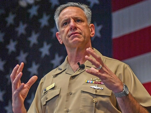 Chief of Naval Personnel Vice Adm. Robert Burke has been nominated by President Donald Trump to be the next vice chief of naval operations. (Mass Communication Specialist 3rd Class Charles D. Gaddis IV/Navy)