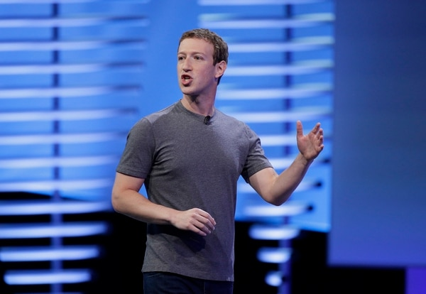 Facebook CEO Mark Zuckerberg delivers the keynote address at the F8 Facebook Developer Conference Tuesday, April 12, 2016, in San Francisco. Zuckerberg said Facebook is releasing new tools that businesses can use to build