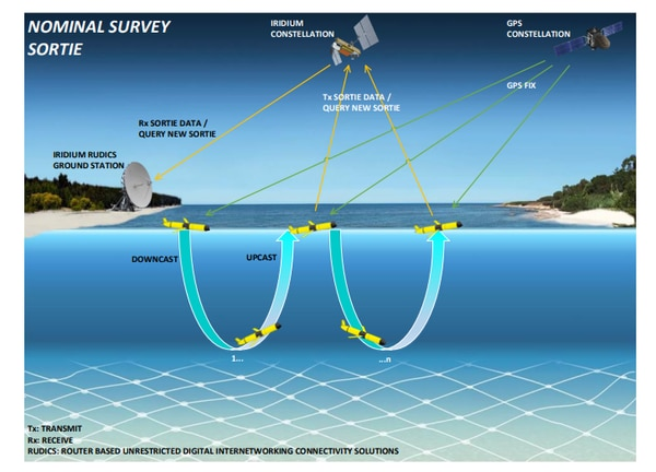 An image from the Navy's request for proposal for its next-generation sensing glider. (Photo: NAVWAR)