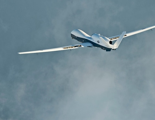 The MQ-4C Triton unmanned aircraft system at Naval Air Station Patuxent River, Maryland, on Sept. 17, 2014. (Erik Hildebrandt/Navy)