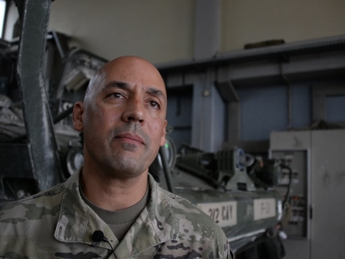 Col. Nickolas Kioutas, the Army's PNT program manager, shares what the service is learning about navigating in denied or degraded environments. (John Higgins/PEO IEW&S Public Affairs)