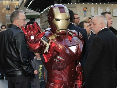 The Tactical Assault Light Operator Suit, or TALOS, would have vaguely resembled Tony Stark's first attempt at creating what would become his signature Iron Man armor. (Getty Images/Gareth Cattermole)