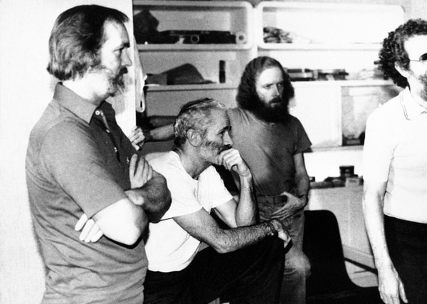 In this Dec. 25, 1980 photo, four American hostages, from left, William Belk of Columbia, S. C.; Thomas Schaefer of Tacoma, Wash.; Donald Hohman of West Sacramento, Calif.; and John Craves of Reston, Va., listen to the latest demands for their release in Iran. Schaefer, a retired Air Force colonel who was the ranking military officer among the 52 Americans held hostage in Tehran, Iran for 444 days before being released in 1981, has died Tuesday, May 31, 2016, of congestive heart failure Tuesday at a hospice in Scottsdale. Ariz. He was 85. (AP)