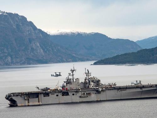 The amphibious assault ship Iwo Jima on deployment last October. (Navy)
