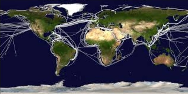 Undersea communication cables connect the globe. (National Oceanic and Atmospheric Administration)