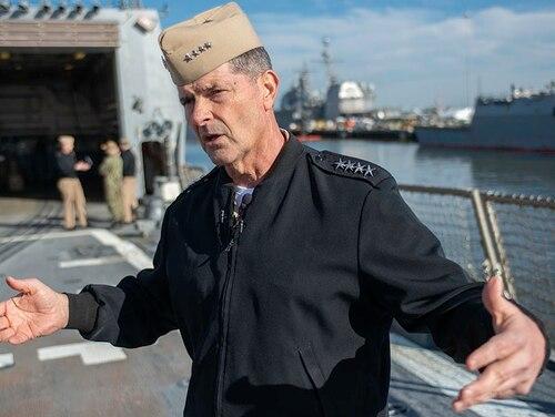 A career aviator, Vice Adm. Bill Moran co-chairs efforts to fix the surface fleet. (Mark D. Faram/Staff)