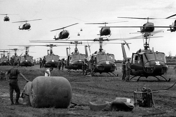 The Vietnam War is known as the helicopter war. (Army)