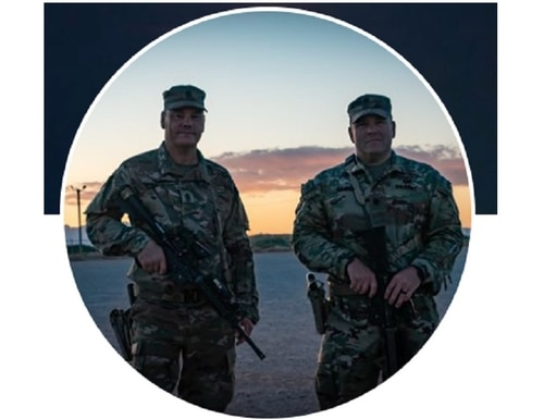 Army Lt. Col. Joseph Cannon, right, in a Facebook profile picture from May. (Facebook)
