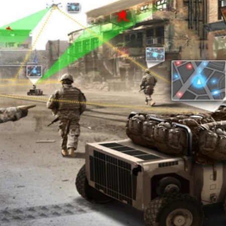 This photo is taken from the Army's Robotics and Autonomous Systems Strategy publication in March. The strategy describes how the Army will integrate new autonomous technologies on the battlefield to compete with near-peer rivals. (Army)