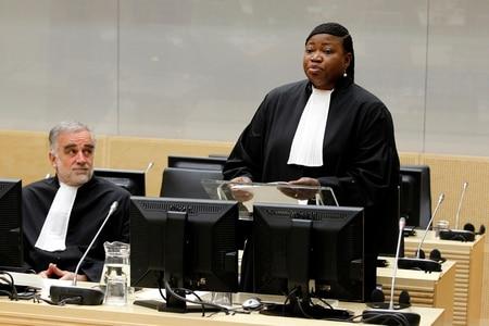 Fatou Bensouda holds her first speech as new prosecutor at the International Criminal Court in The Hague on June 15, 2012. (Bas Czerwinski/AP Photo)