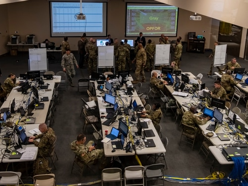Cyber Command is applying lessons learned during force building exercises to be more effective and sustain readiness. (Spc. Joshua Syberg)