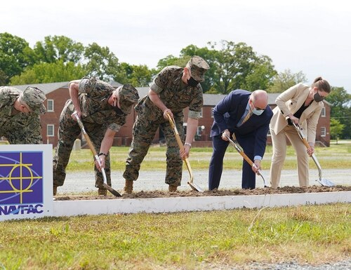 Quantico, Virginia, Wargaming Center official groundbreaking on May 12.