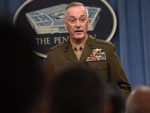 Gen. Joseph Dunford, chairman of the Joint Chiefs of Staff, acting as the global integrator, will be able to allocate forces to regions as seen fit. (Lisa Ferdinando/DoD)