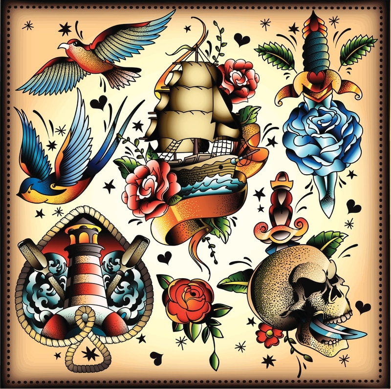 Much of today's American traditional designs are inspired by Sailor Jerry. (Getty)