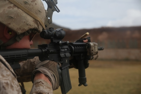 The Marine Corps recently selected a Vista Outdoor company to build a barrier penetrating 5.56mm round that's especially useful for potential urban combat. (Lance Cpl. Adam Korolev/Marine Corps)