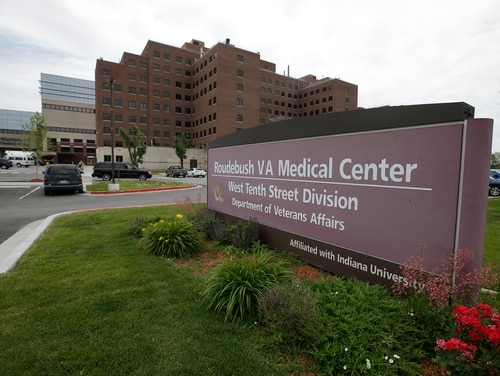 The Richard L. Roudebush Veterans Administration Medical Center in Indianapolis is seen in 2014. A new report says administrative mistakes there in 2017 jeopardized the health of numerous veterans, forcing one to have his foot amputated. (Darron Cummings/AP)
