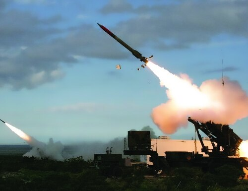 The Army test fires a Patriot missile. Kuwait seeks to upgrade its Patriot systems. (U.S. Army)