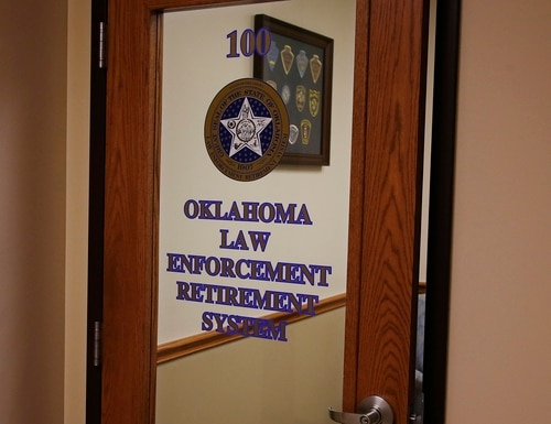 The office of the Oklahoma Law Enforcement Retirement System is pictured Friday, Sept. 6, 2019, in Oklahoma City. Officials with the pension system for retired Oklahoma Highway Patrol troopers and other state law enforcement officers say the FBI is investigating after computer hackers stole $4.2 million in funds. (Sue Ogrocki/AP)