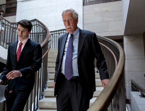 Sen. Angus King, I-Maine, is the co-chair of the Cyberspace Solarium Commission. (Andrew Harnik/AP)