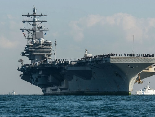 The Navy is investigating several sailors assigned to the Japan-based carrier Ronald Reagan for buying, selling and using drugs, officials confirmed Friday. (Navy)