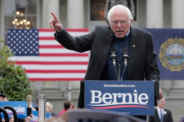 Democratic presidential candidate Sen. Bernie Sanders, I-Vt., gestures during a rally in Concord, N.H., on Oct. 31, 2019. (Charles Krupa/AP)
