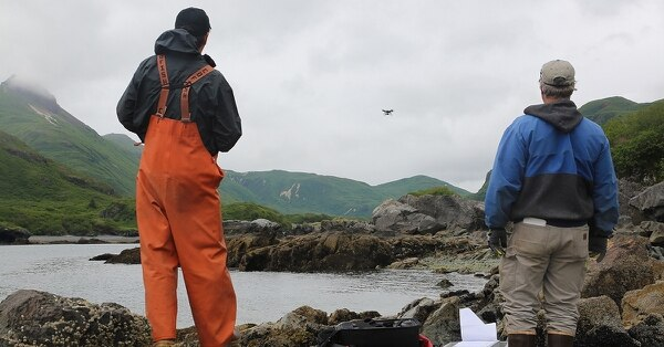 In Alaska, unmanned aerial systems are predominantly used in resource management projects. (Courtesy National Park Service)