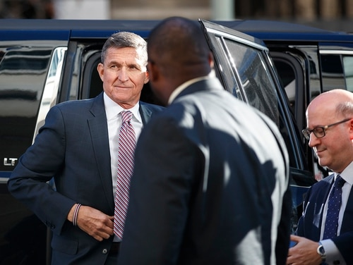 President Donald Trump's former national security adviser Michael Flynn arrives at federal court in Washington, Tuesday, Dec. 18, 2018. (Manuel Balce Ceneta/AP)