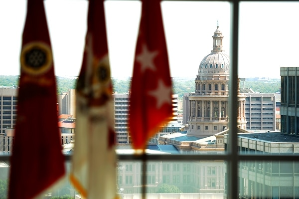 A view of the Texas capitol from Army Futures Command headquarters in Austin. (Master Sgt. Michael Leslie/Army)