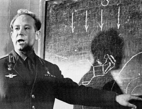 In this March 26, 1965 photo, cosmonaut Alexei Leonov, who stepped into space from the Voskod-2 spaceship, speaks in Moscow. Leonov, the first human to walk in space, died in Moscow on Friday. He was 85. (AP Photo, File)