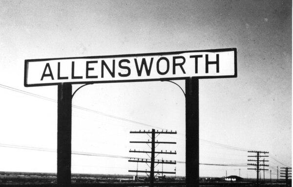 Allensworth sign. (Smithsonian Institution)