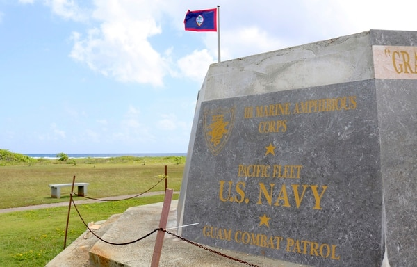 In this May 11, 2017, file photo, a memorial is seen at the War in the Pacific National Historical Park near Hagatna, Guam. (Haven Daley/AP)