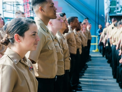 Advancement is at an all-time high for FNDF sailors due to training and operational tempo. (Seaman Zachary Wolfe/Navy)