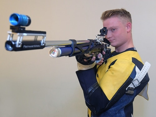 Josh Watson captained Navy's rifle team during his senior year at the service academy. (U.S. Naval Academy)