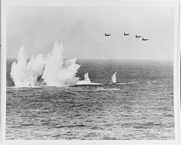 President John F. Kennedy's visit to the U.S. Atlantic Fleet, 14 April 1962, featured four S-2