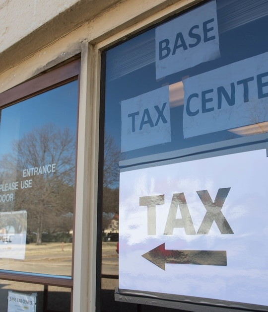 Many military bases have tax centers operated through their legal assistance offices, where those in the military community can have their taxes prepared by a trained, certified volunteer. (Airman 1st Class Sydney Campbell/Air Force)
