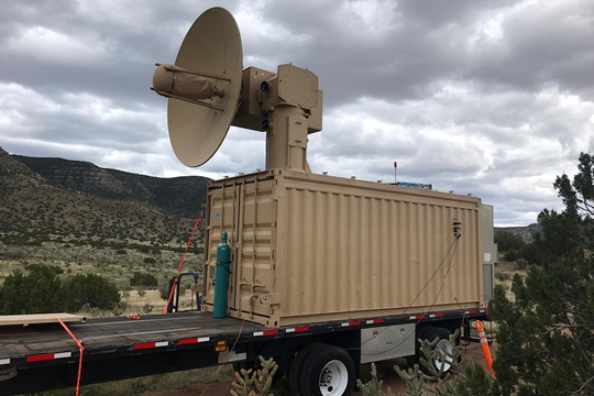 The Air Force Research Laboratory's Tactical High Power Operational Responder was developed for air base defense. (Courtesy of the U.S. Air Force)