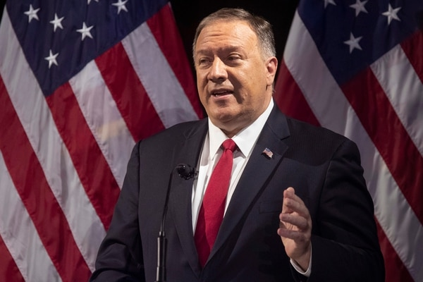 On Oct. 30, U.S. Secretary of State Mike Pompeo spoke during the Herman Kahn Award Gala in New York. He's lashed out at China, accusing the ruling Communist Party of adopting hostile policies that run counter to U.S. interests. (Mary Altaffer/AP)