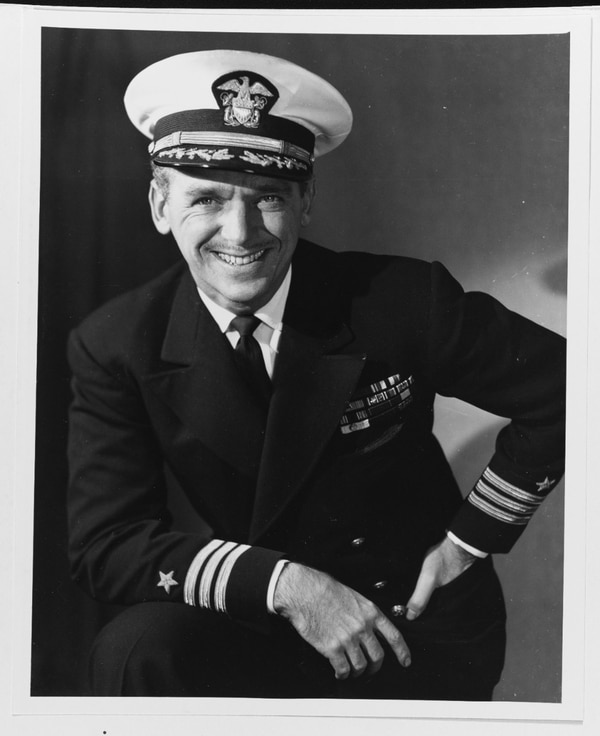Cmdr. Douglas Fairbanks, Jr., taken 21 November 1945. (National Archives)
