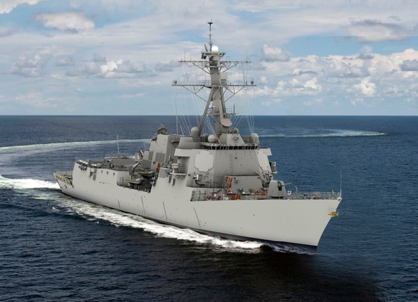 A rendering of DDG-125, the first Flight III destroyer. (courtesy of Huntington Ingalls Industries)