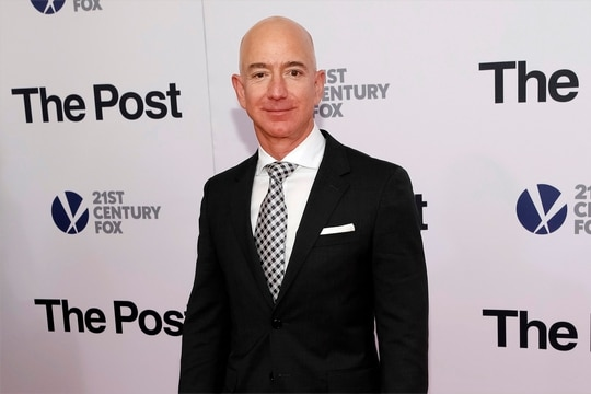 In this Dec. 14, 2017, photo, Jeff Bezos attends the premiere of