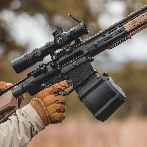 The PMAG D50, a 50-round drum polymer magazine in 7.62mm made by Magpul. (Magpul)