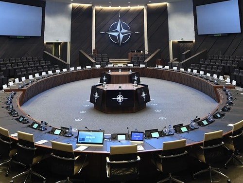 International legal experts expressed some doubts regarding how seamless cyber can be integrated into NATO operations. (Emmanuel Dunand/AFP via Getty Images)