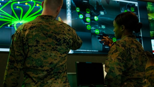 The Senate Armed Services Committee finalized its version of the National Defense Authorization Act with several provisions dedicated to trying to improve cyberspace activities, information operations and electronic warfare. (Staff Sgt. Jacob Osborne/Marine Corps)