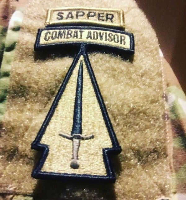 In an Instagram post that has since been taken down, a soldier who belongs to the 1st Security Force Assistance Brigade posted a photo of the unit's new patch. (Instagram)
